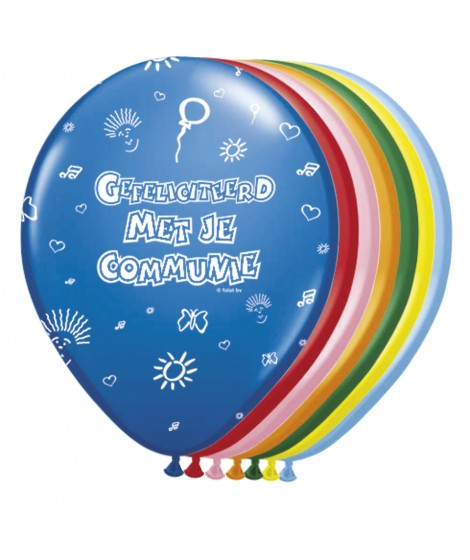 communie ballon assorti