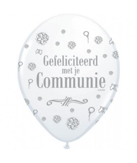 Communie ballon wit