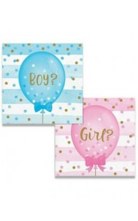 Gender Reveal Servetten, 16 st