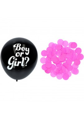 Confetti ballon Gender Reveal meisje