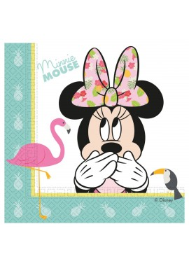 Minnie Mouse tropical servetten 20