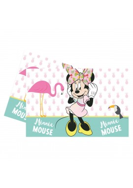 Tafelkleed Minnie Mouse pastel tropical